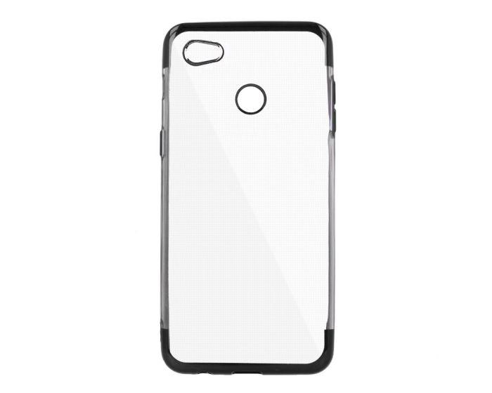 Plating Soft TPU Silicone Case Slim Fit - Θήκη Σιλικόνης Clear / Black (Xiaomi Redmi Note 5A)