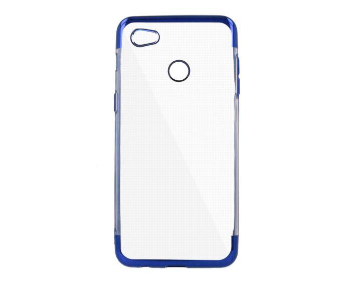 Plating Soft TPU Silicone Case Slim Fit - Θήκη Σιλικόνης Clear / Blue (Xiaomi Redmi Note 5A)