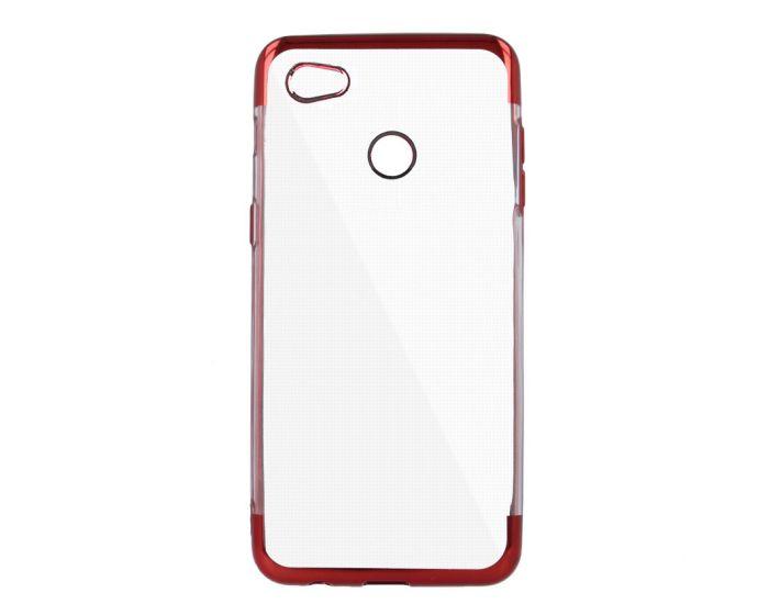 Plating Soft TPU Silicone Case Slim Fit - Θήκη Σιλικόνης Clear / Red (Xiaomi Redmi Note 5A)