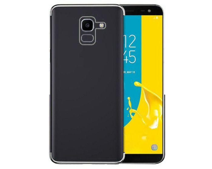 Plating Soft TPU Silicone Case Slim Fit - Θήκη Σιλικόνης Clear / Silver (Samsung Galaxy J6 2018)
