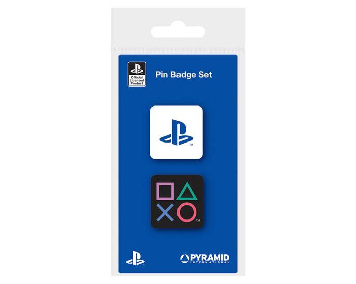 Playstation (Shapes) Enamel Pin Badge - Σετ 2 Κονκάρδες