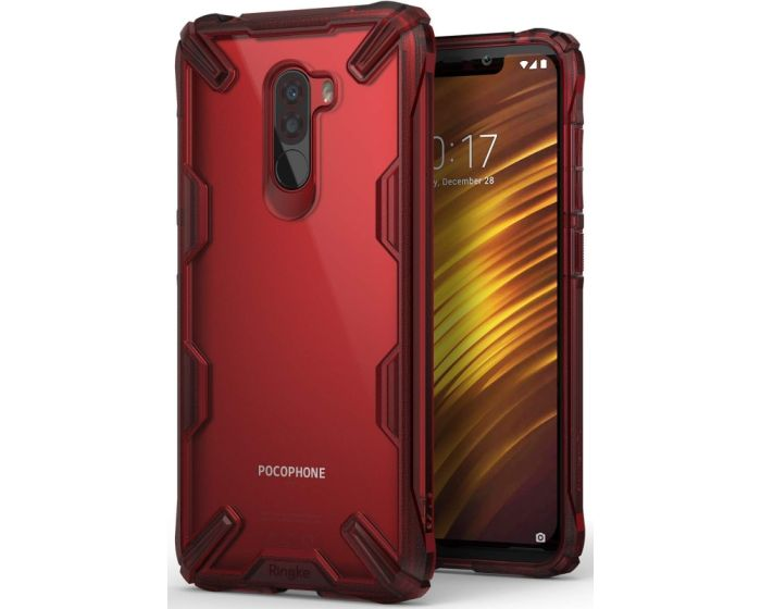 Ringke Fusion-X Σκληρή Θήκη με TPU Bumper (RGK779RED) Ruby Red (Xiaomi Pocophone F1)
