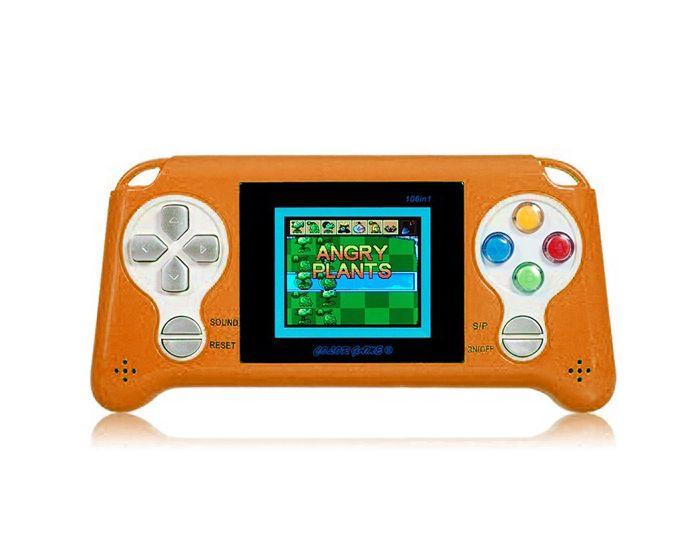 Portable Console Game (180 Games) Orange