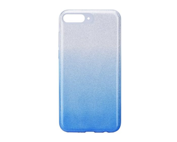 Forcell Glitter Shine Glitter Cover Hard Case Silver / Blue (Huawei Y7 Pro 2018)