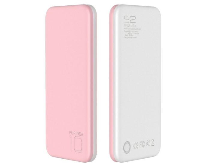 Puridea S2 10000mAh Power Bank - Ροζ