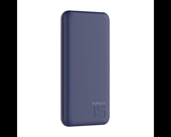 Puridea S3 15000mAh Rubber Coating Power Bank - Μπλε