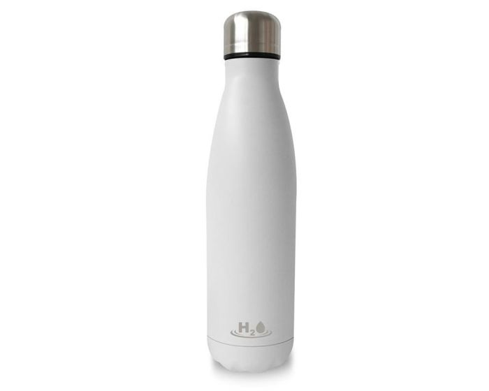PURO H2O Double Wall Stainless Steel Bottle 500ml Θερμός White