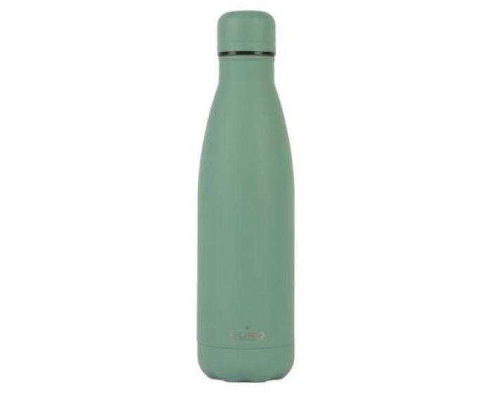 Puro ICON Double Wall Powder Coating Bottle 500ml Θερμός Dark Green