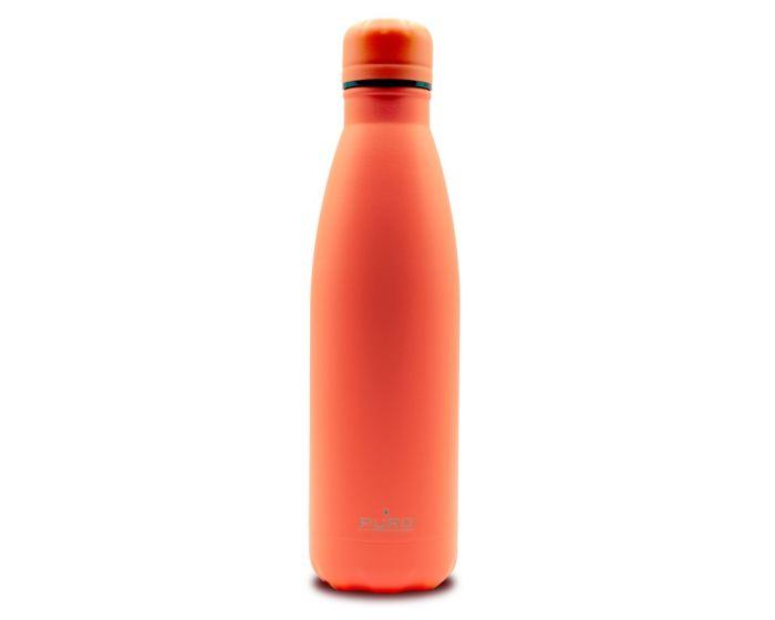 Puro Icon Fluo Stainless Steel Bottle 500ml Θερμός Orange