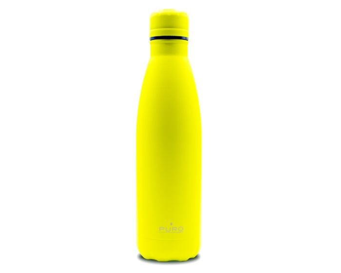 Puro Icon Fluo Stainless Steel Bottle 500ml Θερμός Yellow