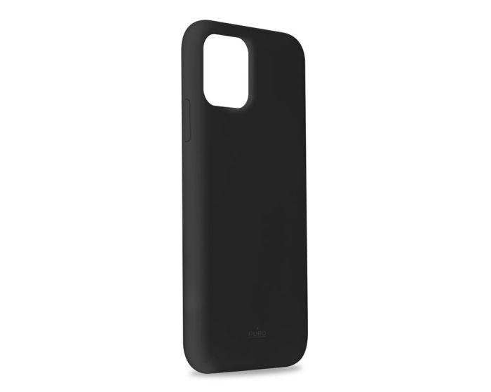 Puro Icon Soft Touch Silicone Case Black (iPhone 11 Pro Max)