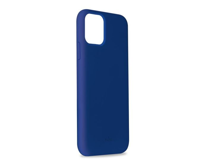 Puro Icon Soft Touch Silicone Case Navy Blue (iPhone 11 Pro)