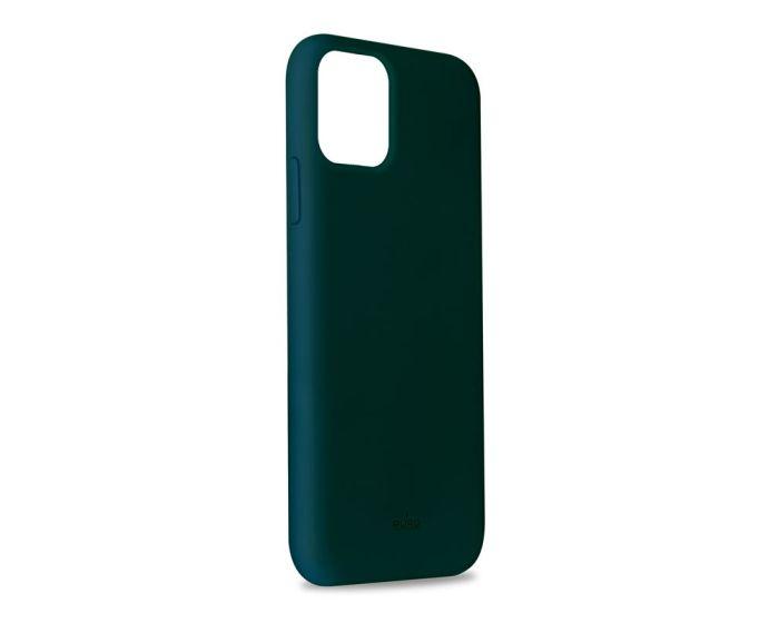 Puro Icon Soft Touch Silicone Case Dark Green (iPhone 11 Pro Max)