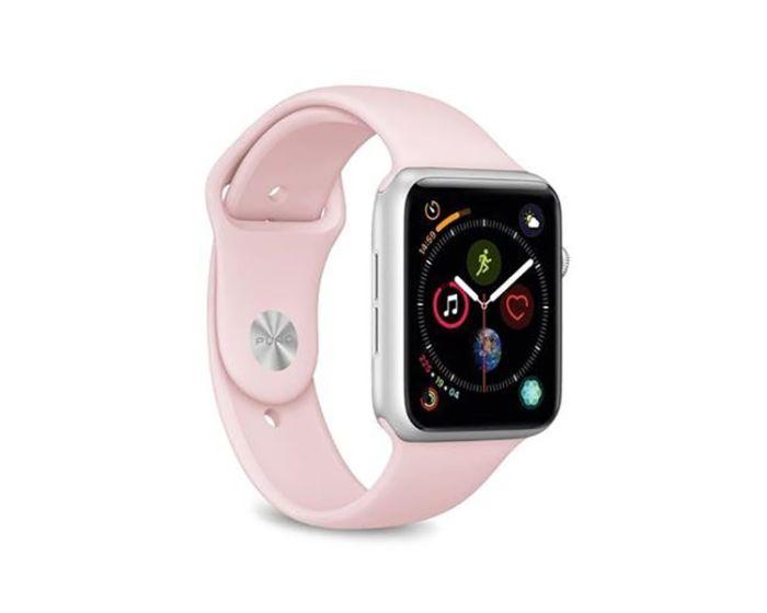 Puro Icon Softband Rose - Λουράκια Σιλικόνης S / M & M / L για Apple Watch 38/40mm (1/2/3/4/5/6/SE)