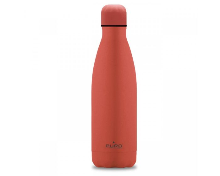 Puro ICON Stainless Steel Bottle 500ml Θερμός Licing Coral