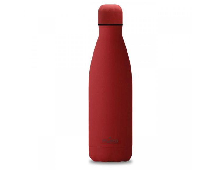 Puro ICON Stainless Steel Bottle 500ml Θερμός Red