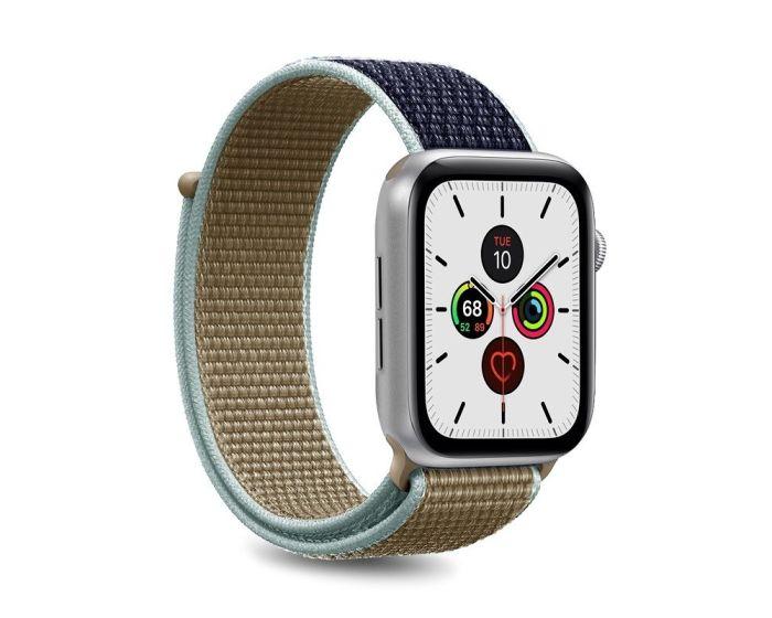 Puro Sport Nylon Strap Υφασμάτινο Λουράκι Army Green για Apple Watch 42/44mm (1/2/3/4/5/6/SE)