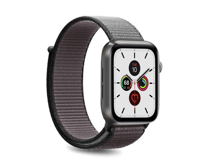 Puro Sport Nylon Strap Υφασμάτινο Λουράκι Iron Grey για Apple Watch 42/44mm (1/2/3/4/5/6/SE)