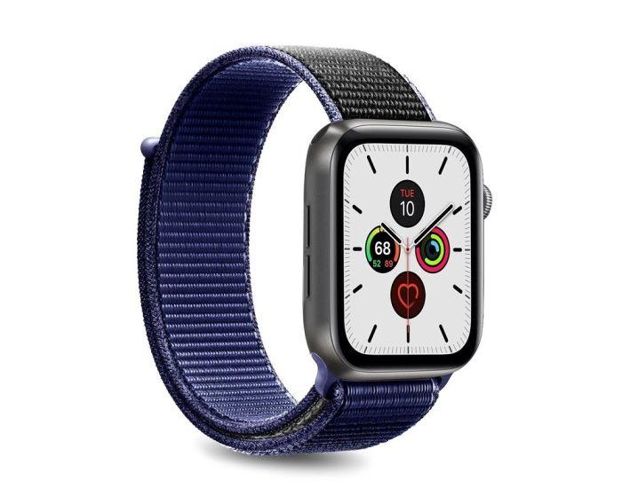 Puro Sport Nylon Strap Υφασμάτινο Λουράκι Space Blue για Apple Watch 42/44mm (1/2/3/4/5/6/SE)