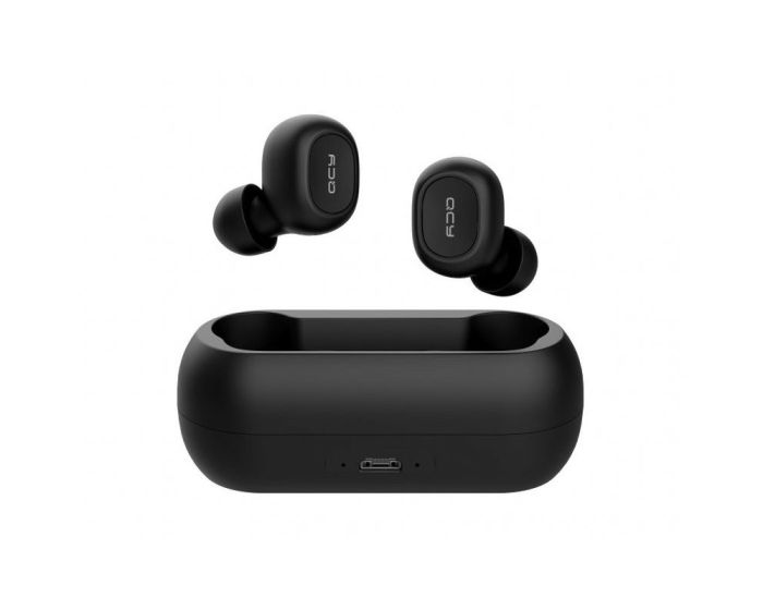 QCY T1 TWS Wireless Bluetooth Stereo Earbuds with Charging Box - Black