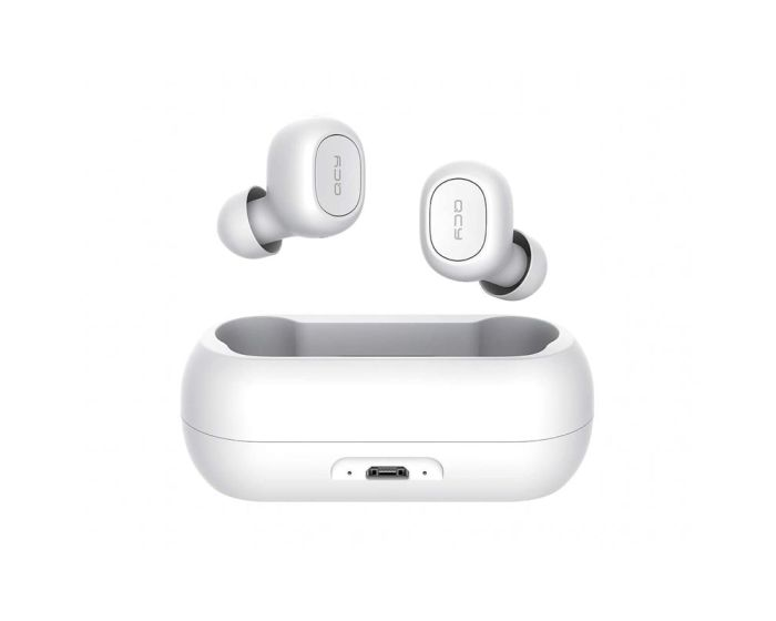 QCY T1 TWS Wireless Bluetooth Stereo Earbuds with Charging Box - White