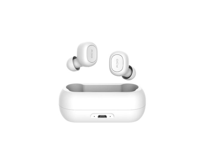 QCY T1C TWS Wireless Bluetooth Stereo Earbuds with Charging Box - White