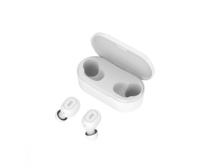 QCY T2C TWS Wireless Bluetooth Stereo Earbuds with Charging Box - White