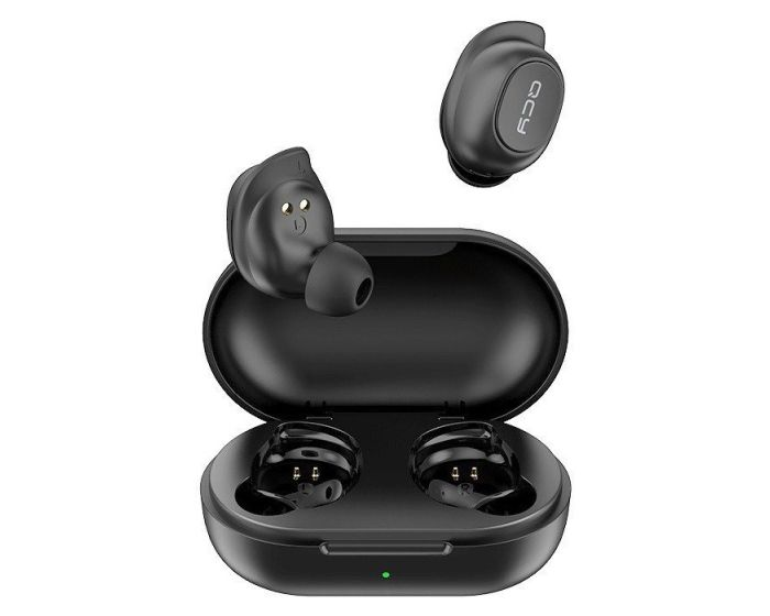 QCY T9 TWS Wireless Bluetooth Stereo Earbuds with Charging Box - Black