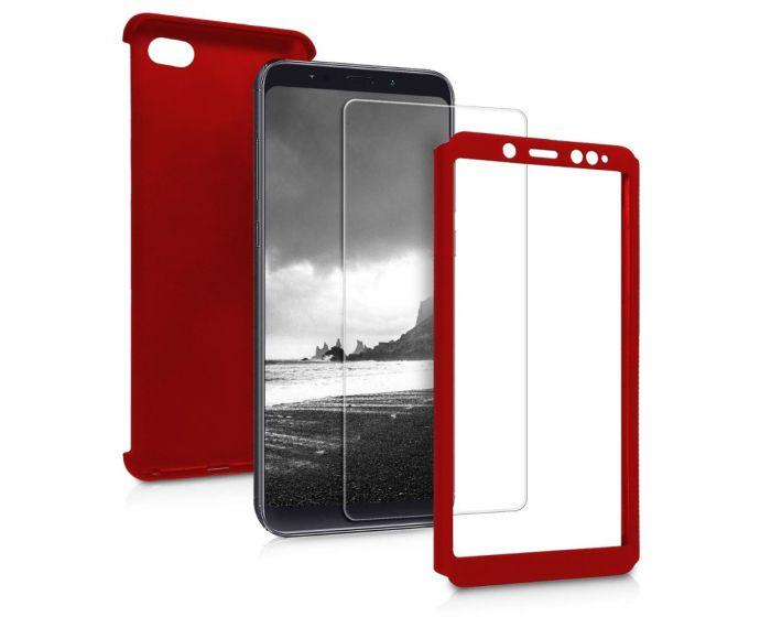 360 Full Cover Case & Tempered Glass - Red (Xiaomi Redmi 6)