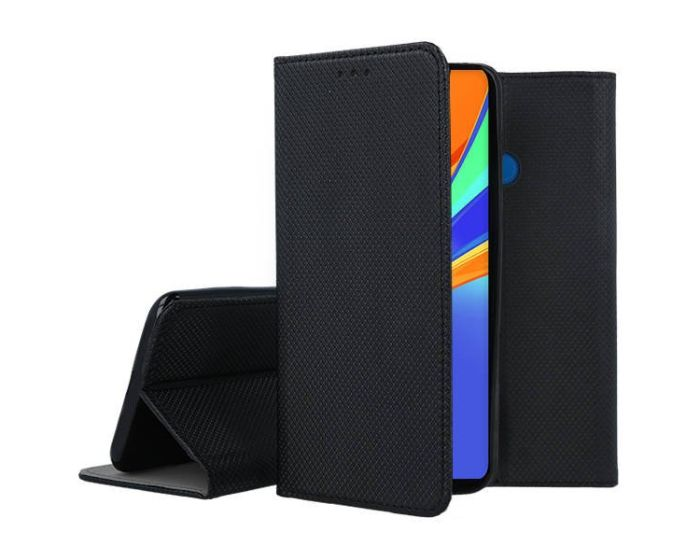 Forcell Smart Book Case με Δυνατότητα Stand Θήκη Πορτοφόλι Black (Xiaomi Redmi 9C)