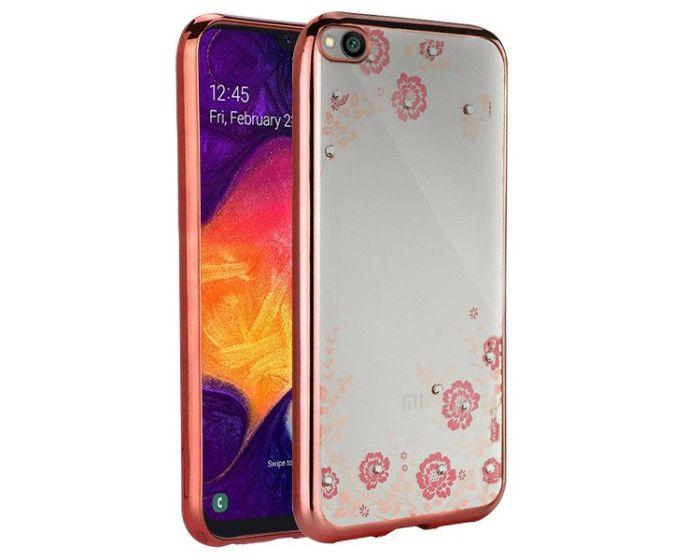 Forcell Strass TPU Case Diamond Garden - Θήκη σιλικόνης με Στρας Rose Gold (Xiaomi Redmi Go)