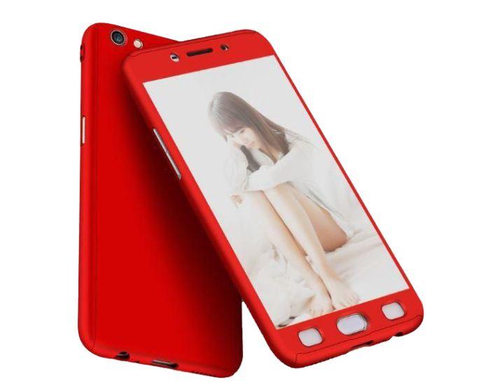 360 Full Cover Case & Tempered Glass - Red (Xiaomi Redmi Note 5A Prime)
