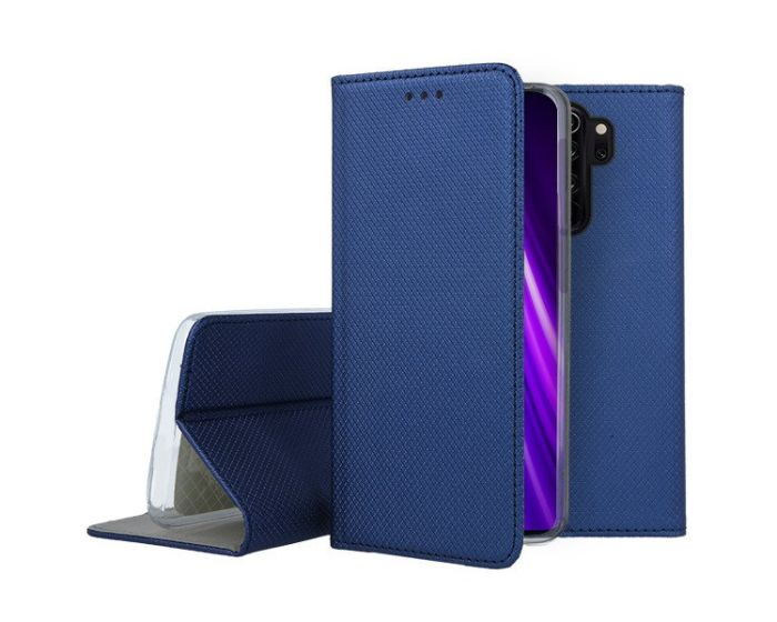 Forcell Smart Book Case με Δυνατότητα Stand Θήκη Πορτοφόλι Navy Blue (Xiaomi Redmi Note 8 Pro)