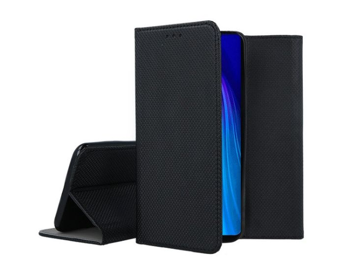 Forcell Smart Book Case με Δυνατότητα Stand Θήκη Πορτοφόλι Black (Xiaomi Redmi Note 8T)