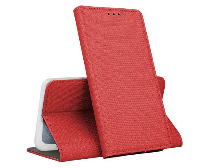 Forcell Smart Book Case με Δυνατότητα Stand Θήκη Πορτοφόλι Red (Xiaomi Redmi Note 8T)