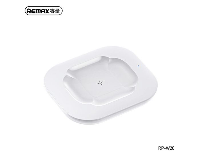 Remax Fonry Wireless Charger for AirPods 10W (RP-W20) Ασύρματος Φορτιστής AirPods - White