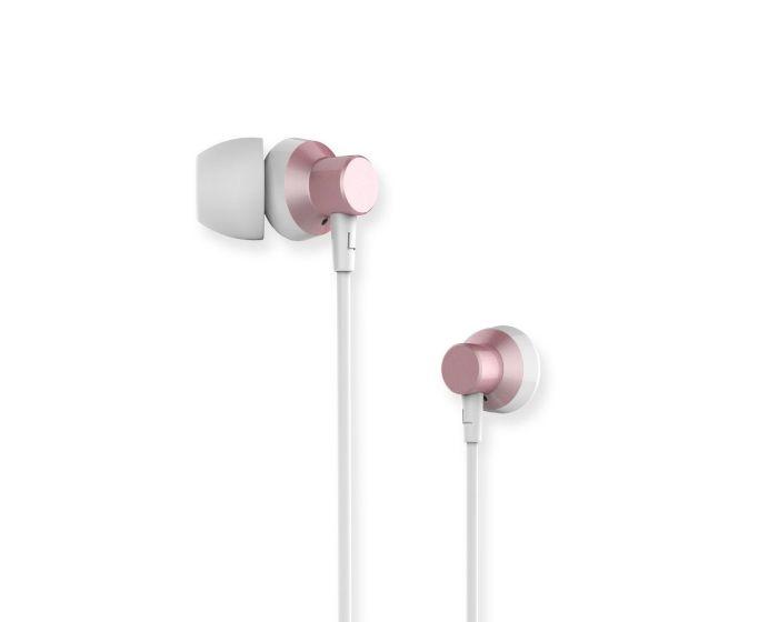 Remax RM-512 In-Ear Headphones Hands Free Ακουστικά Pink