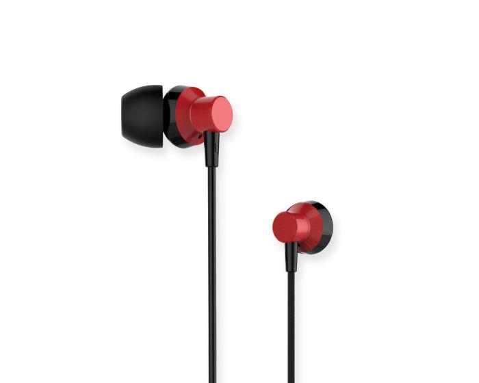 Remax RM-512 In-Ear Headphones Hands Free Ακουστικά Red