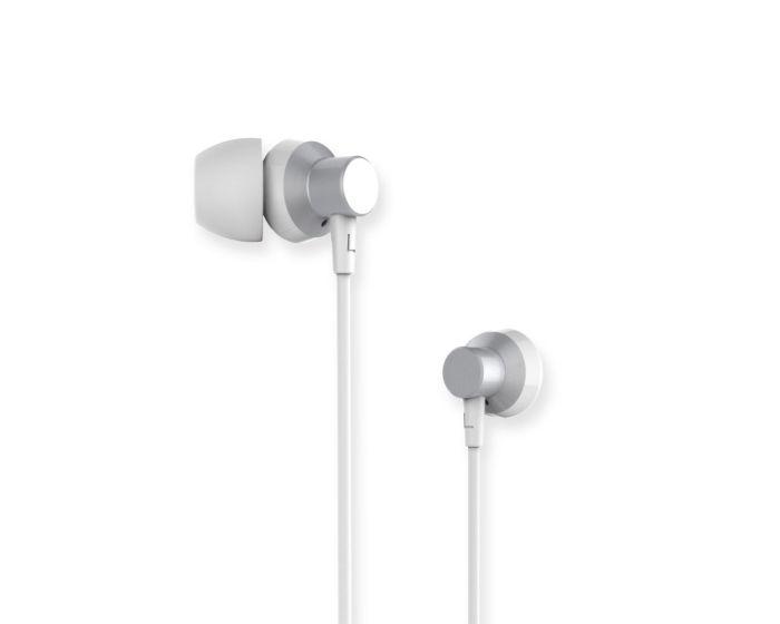 Remax RM-512 In-Ear Headphones Hands Free Ακουστικά Silver