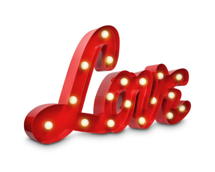 Navaris Led Retro Decorative Light Love (41039) Διακοσμητικό Ρετρό Μεταλλικό Φωτιστικό Τοίχου
