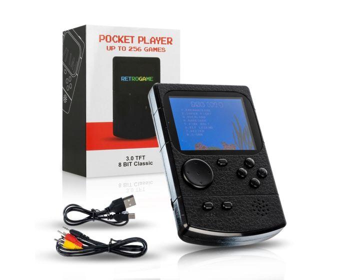 Retro Mini Console Game (256 Games) Black