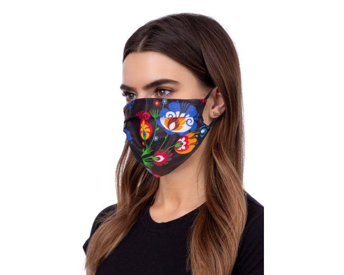 Reusable Face Mask Προστατευτική Μάσκα Προσώπου - Folklore Black