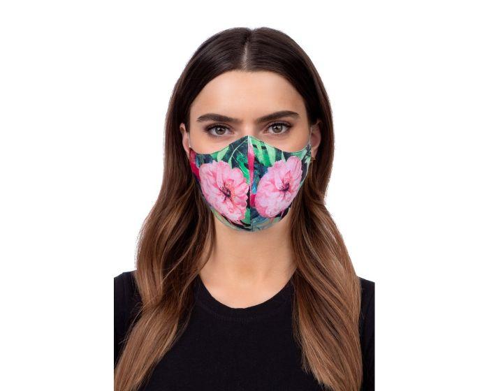 Reusable Profiled Face Mask Προστατευτική Μάσκα Προσώπου - Flower Lotos