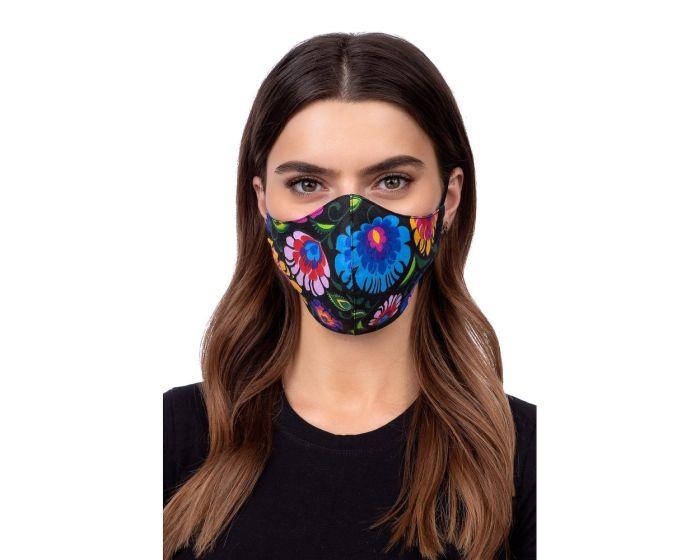 Reusable Profiled Face Mask Προστατευτική Μάσκα Προσώπου - Folklore Black