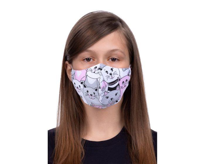 Reusable Profiled Face Mask for Kids 8-12 Παιδική Προστατευτική Μάσκα Προσώπου - Cat