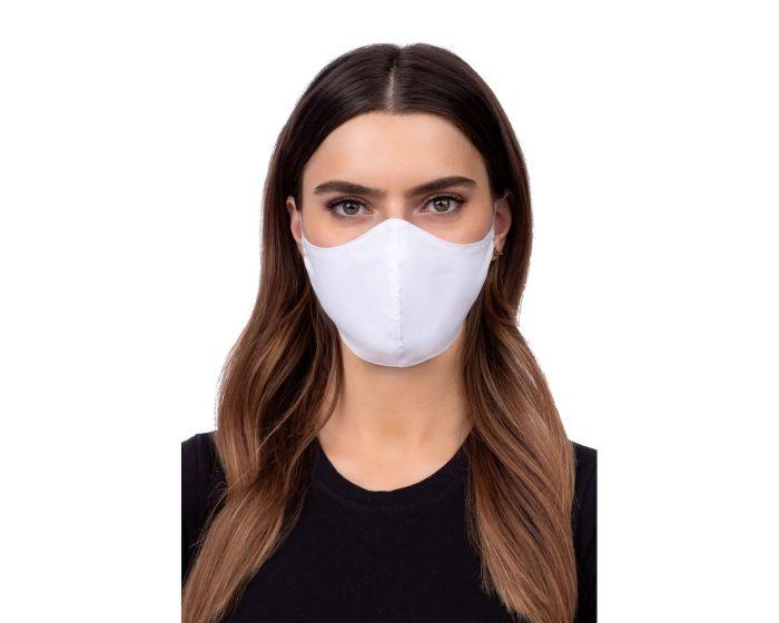Reusable Profiled Face Mask Προστατευτική Μάσκα Προσώπου - White