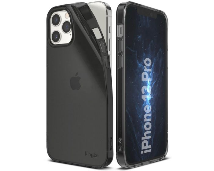 Ringke Air Θήκη Σιλικόνης Smoke Black (iPhone 12 / 12 Pro)