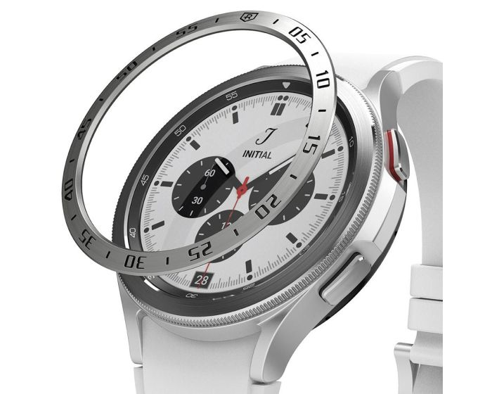 Ringke Bezel Ring (GW4C-46-01) Stainless Steel Silver (Samsung Galaxy Watch 4 Classic 46mm)