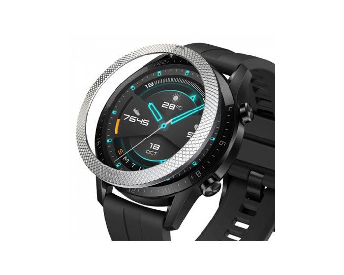 Ringke Bezel Styling (HW-GT2-46-42) Stainless Steel Silver για Huawei Watch GT 2 46mm