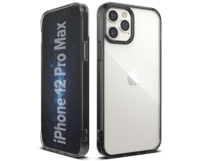 Ringke Fusion Σκληρή Θήκη με TPU Bumper Smoke Black (iPhone 12 Pro Max)